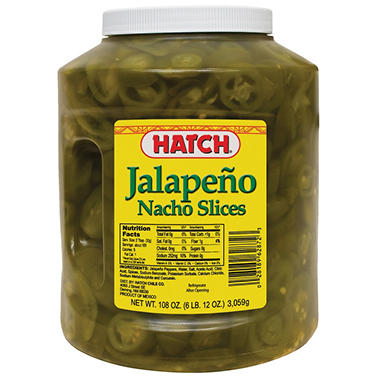 Hatch Nacho Sliced Jalepenos (108 oz.)