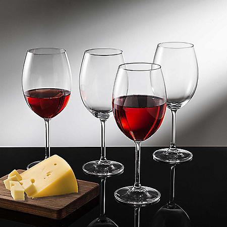 Godinger Meridian Crystal Wine Glasses, Set of 4 (Choose Your Size)