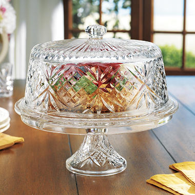 Godinger Shannon Crystal 4-in-1 Crystal Cake Dome