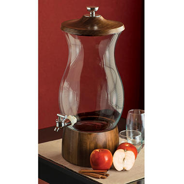 25 gallon beverage dispenser with acacia wood stand - Beverage Dispenser With Stand