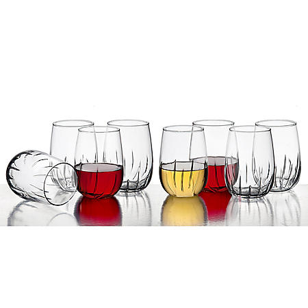 Aerating Stemless Wine Glasses, Set of 8