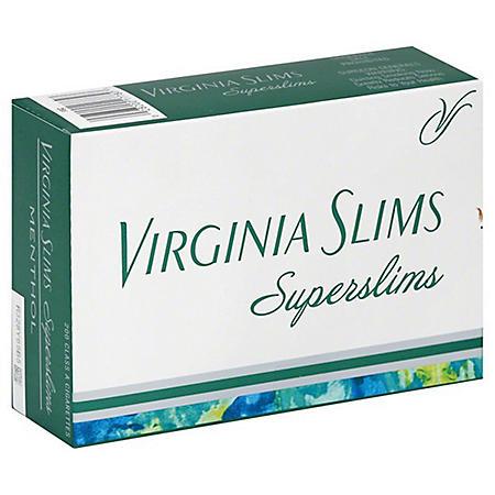 Virginia Slims Superslims Menthol 100s Box (20 ct., 10 pk.)