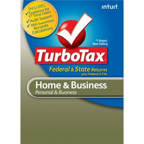 TurboTax Home & Business Fed + E-File + State 2012