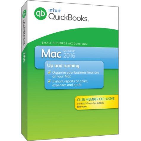 Intuit QuickBooks Mac 2016 +90 days of Support