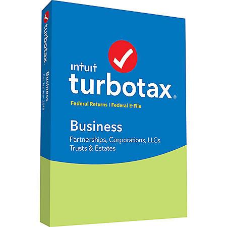 TurboTax Business 2018 Fed + Efile (PC/Mac Disc)