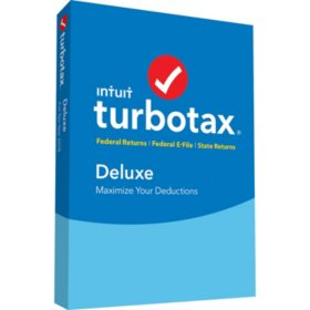 TurboTax Deluxe 2018 Fed + Efile + State (PC/Mac Disc)