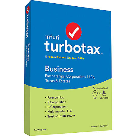 TurboTax Business 2019 Fed + Efile (PC Disc)
