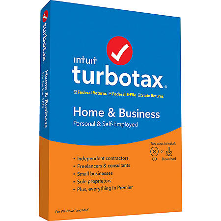 TurboTax Home & Business 2019 Fed+Efile+State (PC/MAC Disc)
