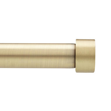 Umbra Simple Cap Drapery Rod Set (Brass)