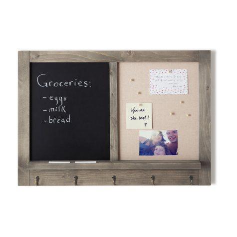 Umbra Wall Organization Board, Half Chalkboard & Half Pin Board
