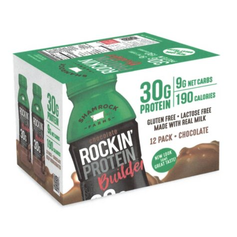 Rockin' Protein Builder 30g Chocolate (12 oz., 12 ct.)