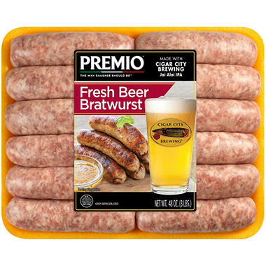 Premio Cigar City Beer Bratwurst (3 lb.)