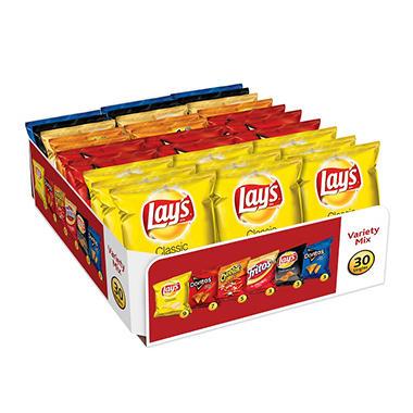 Frito-Lay Big Grab Chips and Snacks Variety Pack (30 ct