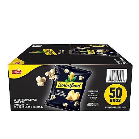 Smartfood White Cheddar Cheese Popcorn (0.625 oz., 50 pk.)