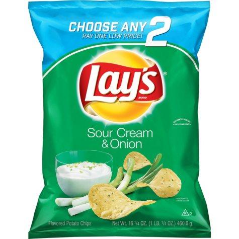 Lay's Sour Cream and Onion Potato Chips (16.25 oz)
