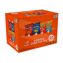 Doritos and Cheetos Mix Snacks Variety Pack (30 ct.)