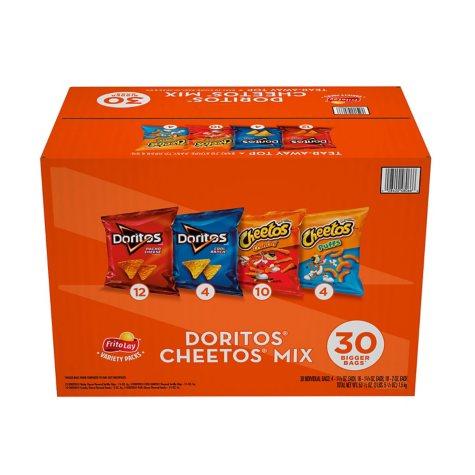 Doritos and Cheetos Mix Snacks Variety Pack (30 ct.)
