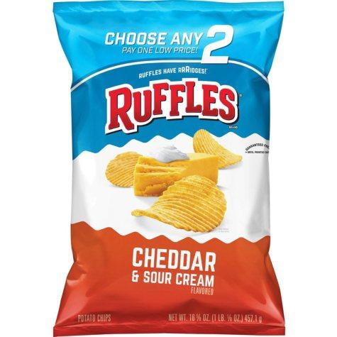 Ruffles Cheddar & Sour Cream Potato Chips (16.125 oz.)
