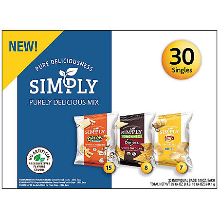 Simply Lay's Sea Salted Thick Cut Potato Chips (30 ct.)