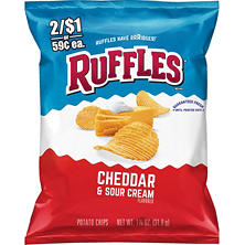 Ruffles Cheddar & Sour Cream Flavored Potato Chips (1.125 oz. ea., 44 ct.)