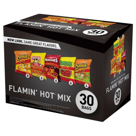 OFFLNIE-Frito-Lay Flamin' Hot Mix Spicy Snacks Variety Pack (30 ct.)