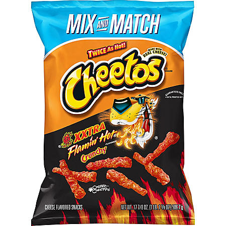 Cheetos Crunchy XXTRA Flamin' Hot Cheese Flavored Snacks (17.875 oz.)