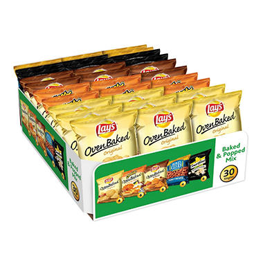 Frito-Lay Baked & Popped Mix Variety Pack (30 ct.)
