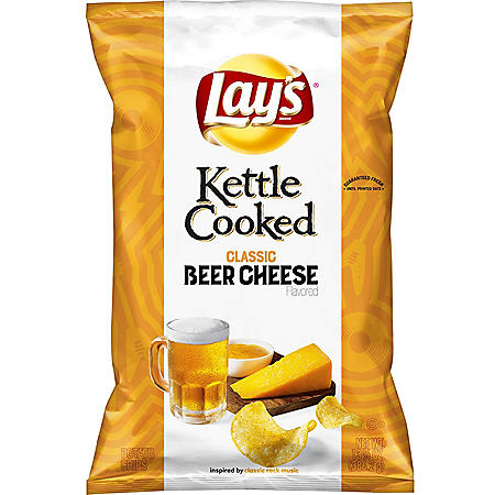 Lay's Kettle Cooked Classic Beer Cheese Flavored Potato Chips (13.625 oz.)