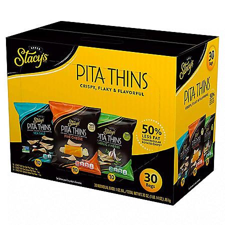 Stacy's Pita Thins, Variety Pack (1 oz., 30 ct.)