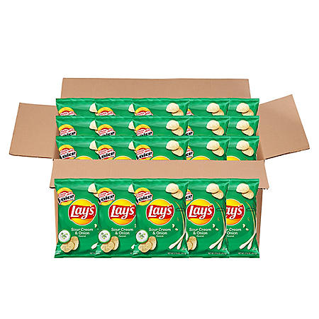 Lay's Sour Cream & Onion Potato Chips (2.625 oz., 20 ct.)