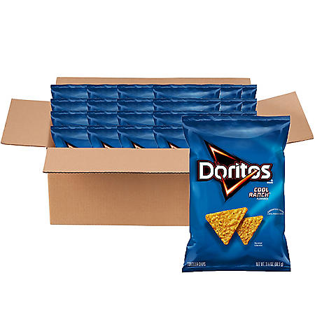 Doritos Cool Ranch Tortilla Chips (2.75 oz., 24 ct.)