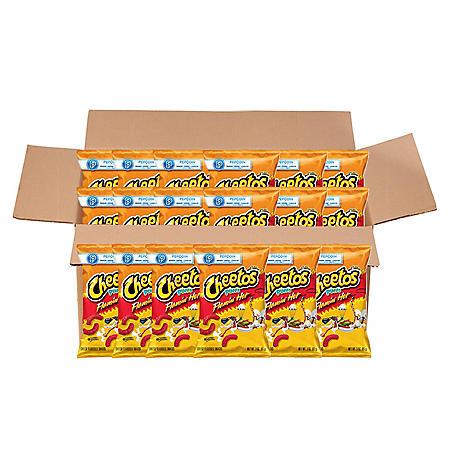 Cheetos Flamin' Hot Puffs Cheese Snacks (3 oz., 18 ct.)