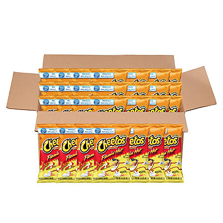 Cheetos Crunchy Flamin' Hot Cheese Snacks (3.25 oz ea., 28 ct.)