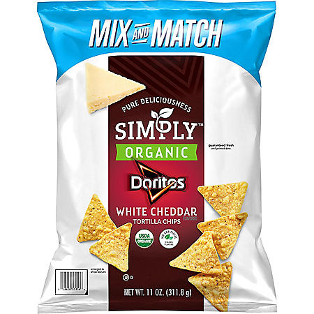 Simply Doritos White Cheddar Flavored Tortilla Chips (11 oz.)