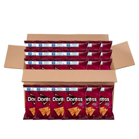 Doritos Spicy Nacho Tortilla Chips (3.13 oz. ea., 24 ct.)