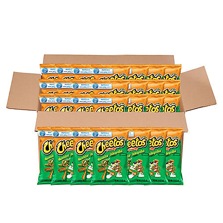 Cheetos Crunchy Cheddar Jalapeno Cheese Snacks (3.5 oz. ea., 28 ct.)