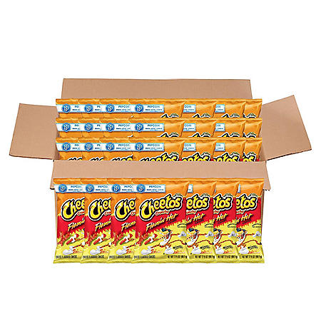 Cheetos Crunchy Flamin' Hot Cheese Snacks (3.5 oz ea., 28 ct.)