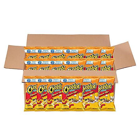 Cheetos Flamin' Hot Puffs Cheese Snacks (3.38 oz., 20 ct.)
