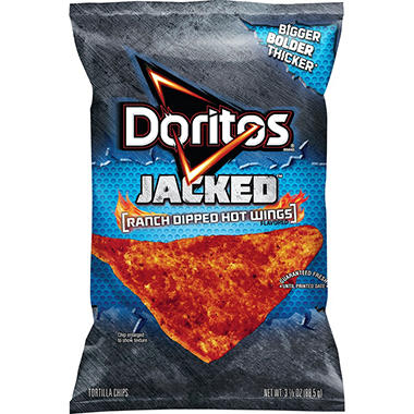 Doritos Jacked Ranch Dipped Hot Wing Tortilla Chips (3 oz. ea., 24 ct.)