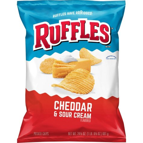 Ruffles Cheddar and Sour Cream Potato Chips (24.3 oz.)
