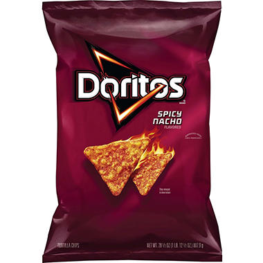 Doritos Spicy Nacho Flavored Tortilla Chips (28.5 oz.)