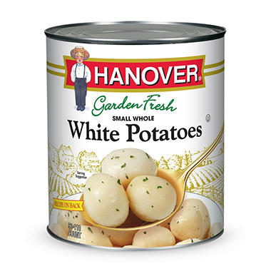 Hanover Small Whole White Potatoes - 110 oz.