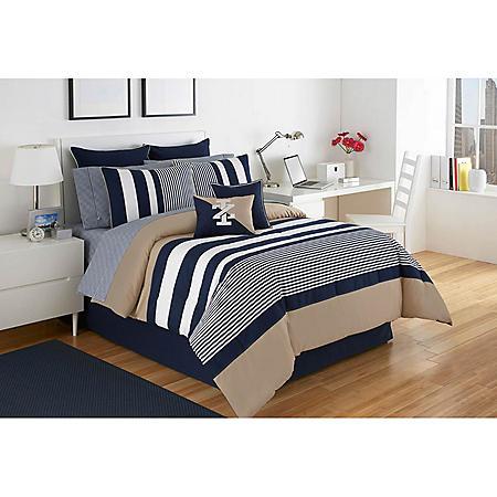 IZOD Classic Stripe Comforter Set (Assorted Sizes)