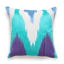 Amy Sia Painterly Embroidered Square Decorative Pillow