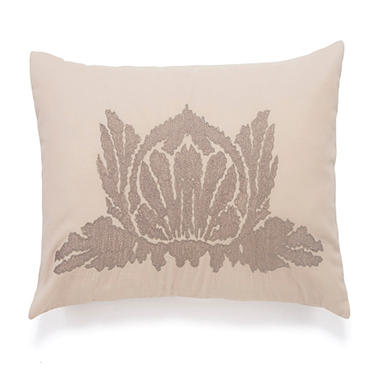 BiniChic Embroidered Lotus Decorative Pillow