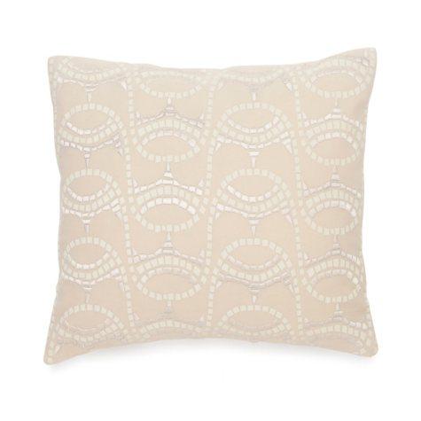 BiniChic Terracotta Embroidered Mosaic Decorative Pillow
