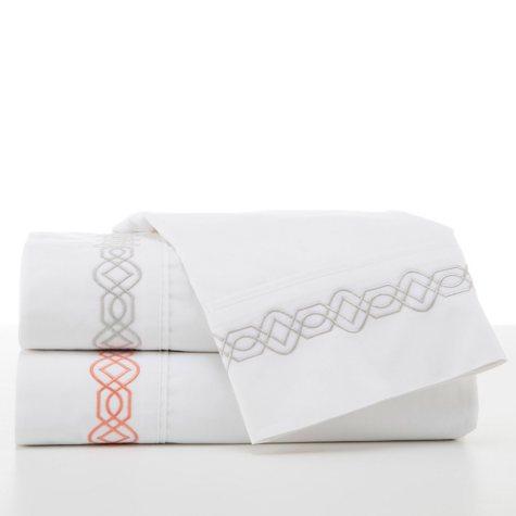 Martex Trellis 200-Thread-Count Embroidered Sheet Set
