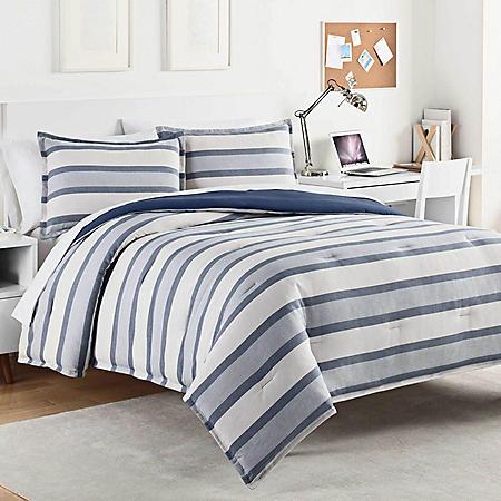 IZOD Kenton Vintage Comforter Set, Indigo