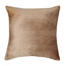 Vellux Plush/Sherpa Caramel Decorative Pillow