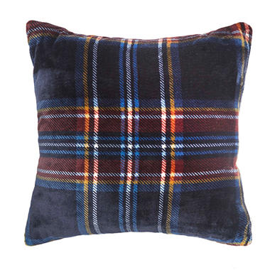 Vellux Mackenzie Square Navy Decorative Pillow